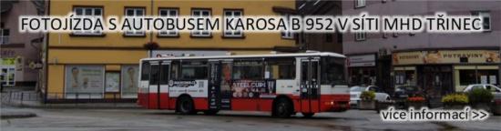Fotojízda s autobusem Karosa B 952 v síti MHD Třinec